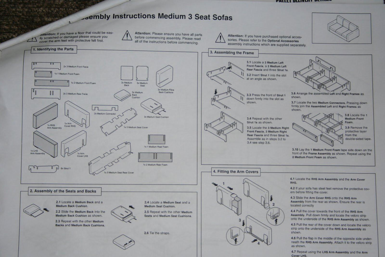 Sleeper Sofa Assembly Instructions Corner Sofas On Credit Nabru Bed Brokeasshome