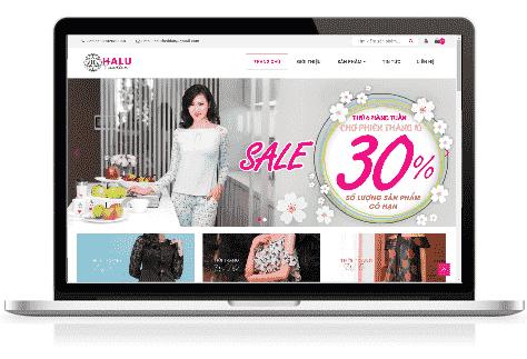 Giao diện blog bán hàng thời trang Halu Fashion