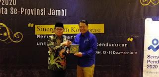 Gubernur Jambi Secara Resmi Menutup Rapat Evaluasi Teknis Dan Administrasi Tahun 2019 Dan Sosialisasi SP 2020 BPS Kabupaten Kota Se-provinsi Jambi.