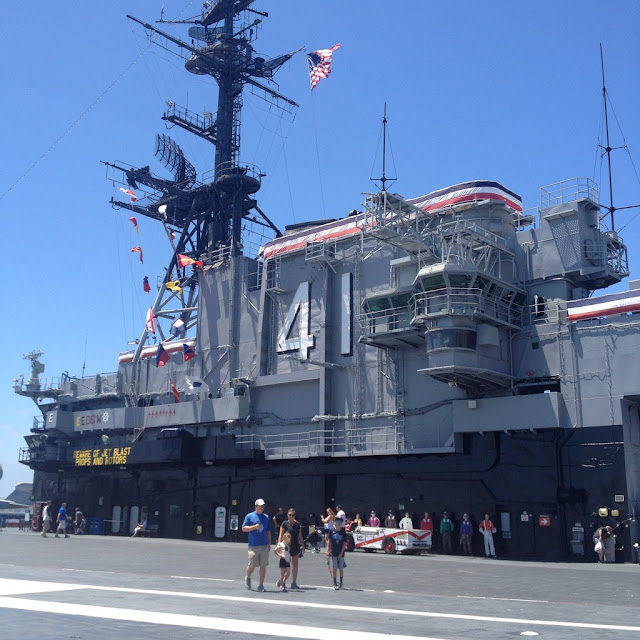 The bridge of the USS Midway