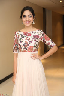 Ritu Varma smiling face Cream Anarkali dress at launch of OPPO New Selfie Camera F3 ~  Exclusive 087.JPG