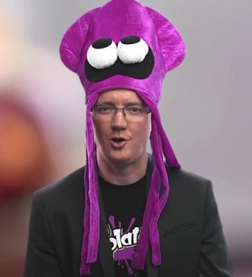 Bill Trinen Splatoon squid hat Nintendo Direct micro
