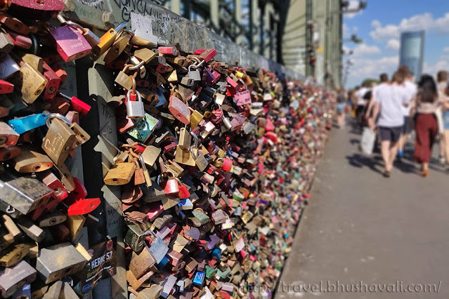 One day in Cologne Hohenzollern Love Locks Bridge