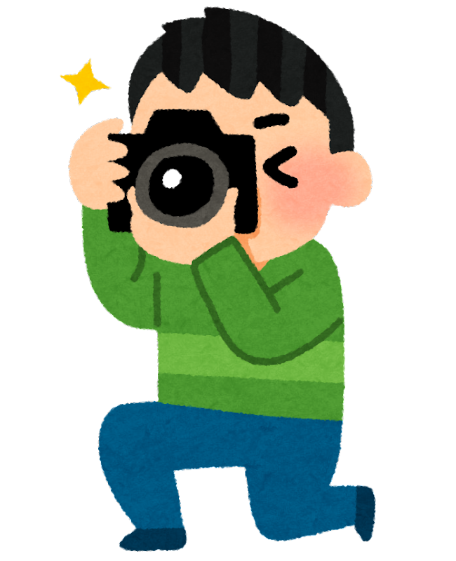 カメラで撮影をしている人のイラスト | かわいいフリー素材集 いらすとや