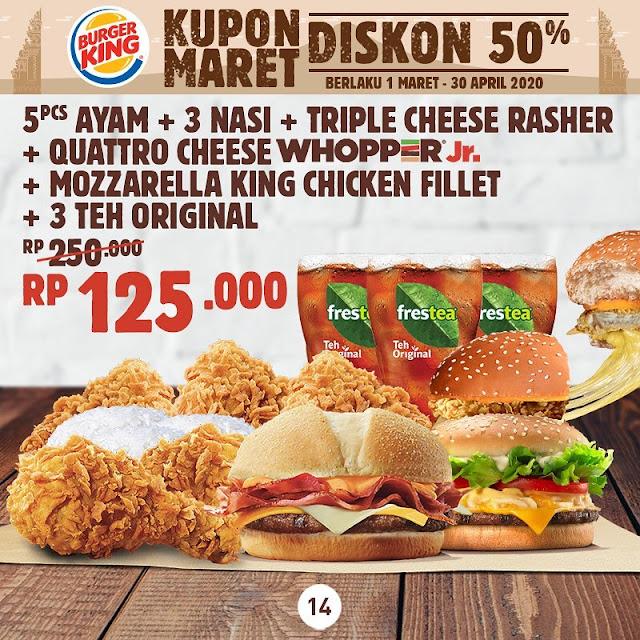 #BurgerKing - #Promo Voucher Diskon 50% Bulan Maret 2020 (s.d 31 Mar 2020)