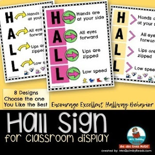 teaching resources, hall sign, elementary school