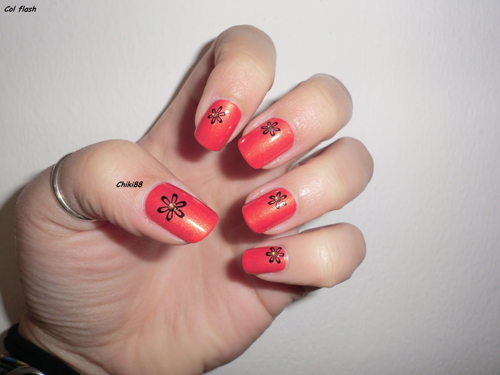 CHIKI88... my passion for nails!: Nail art - Orange flower!