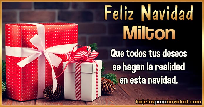 Feliz Navidad Milton