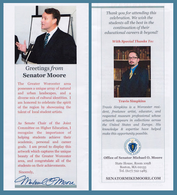 Senator Michael Moore and Travis Simpkins. Massachusetts State House