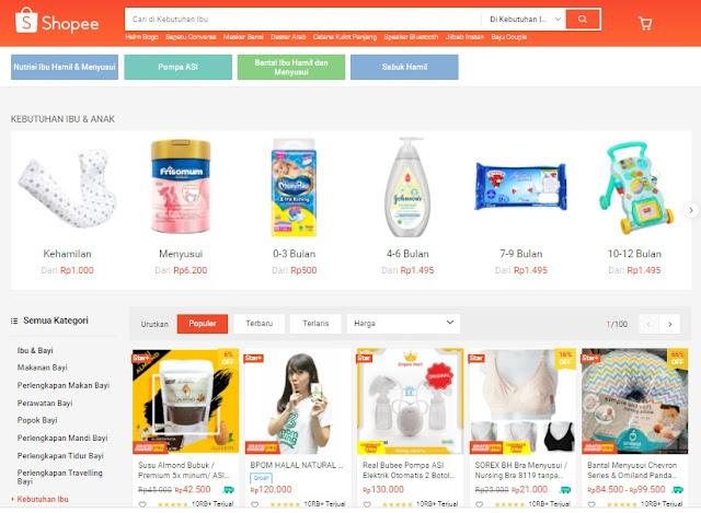 Belanja susu hamil dan keperluan bayi di shopee