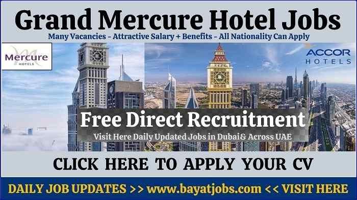 Grand Mercure Hotel Dubai Jobs Latest Vacancies 2020