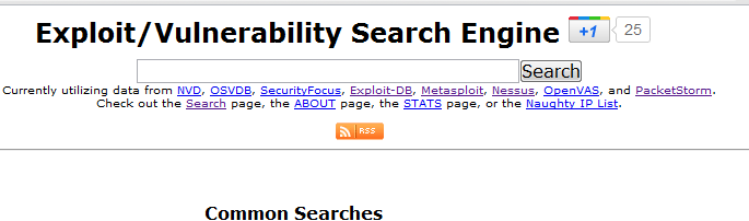 Exploitsearch net - Exploit & Vulnerability Search Engine