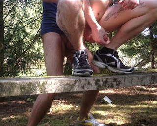 gay public sex, two men fucking on picnic table in park, fuck, assfuck, anal, outside, outdoors, bareback, exhib, Robot Jack