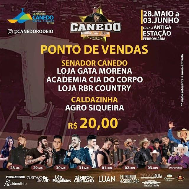 Onde comprar seu ingresso do Canedo Rodeio Fest Show?