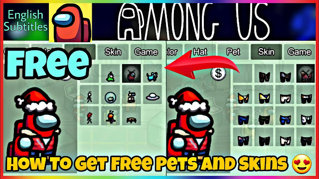 How to Get Pet, Skin & Hat Among Us mod.