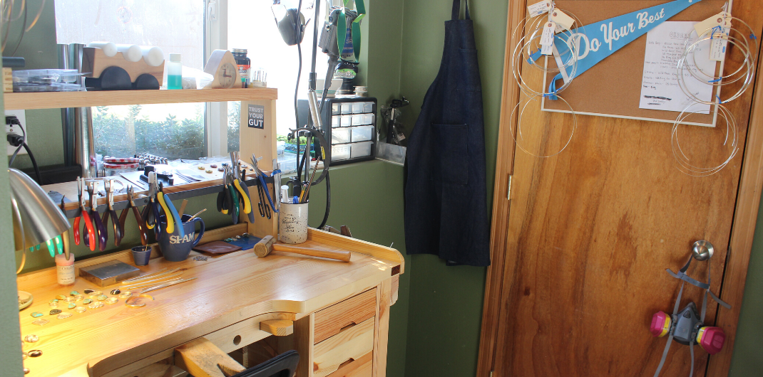 jewelry work bench and tools