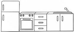 4 Dibujo: Muebles de la Cocina para colorear