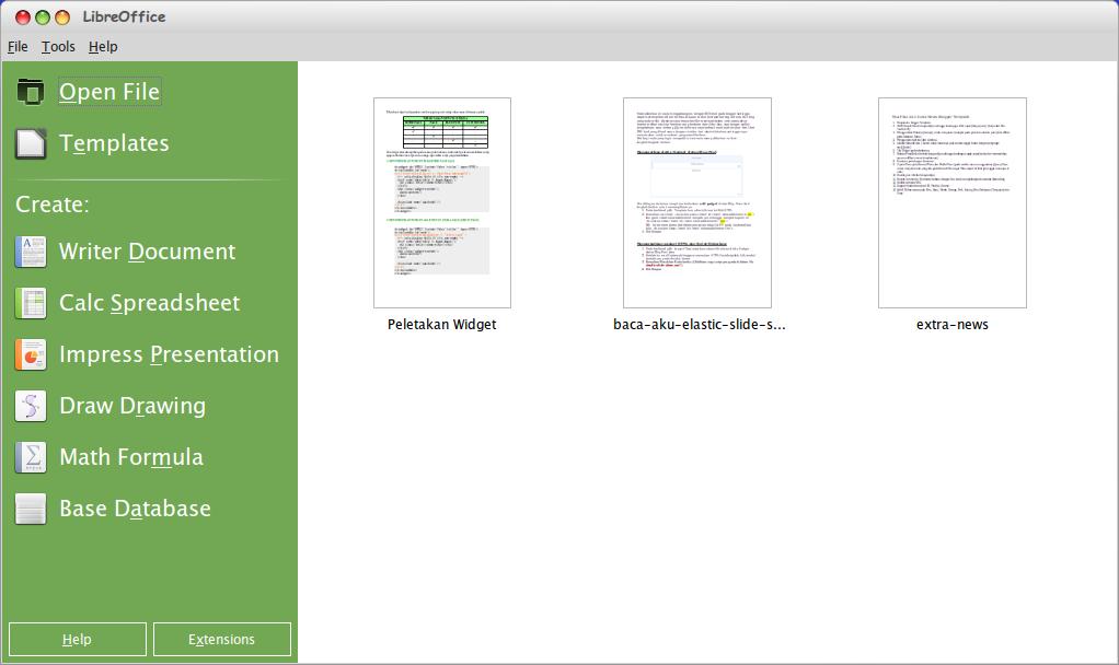 Paket Aplikasi Libre Office 4.2.0 Final (Rilis 30 Januari 2014)