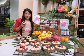 Belajar buat Berry soufflé cheese dengan LENNOX™ Collagen Powder di ABC Cooking Studio | Butterfly Project Malaysia