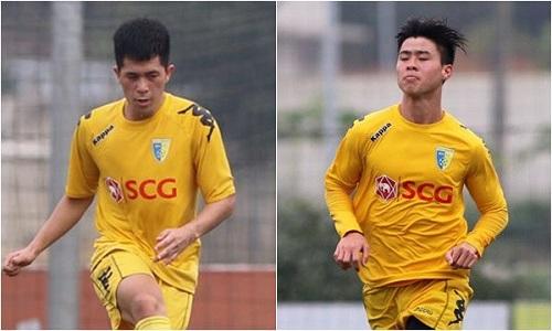 Cả Đình Trọng và Duy Mạnh đều đã bắt nhịp với V-League 2018.