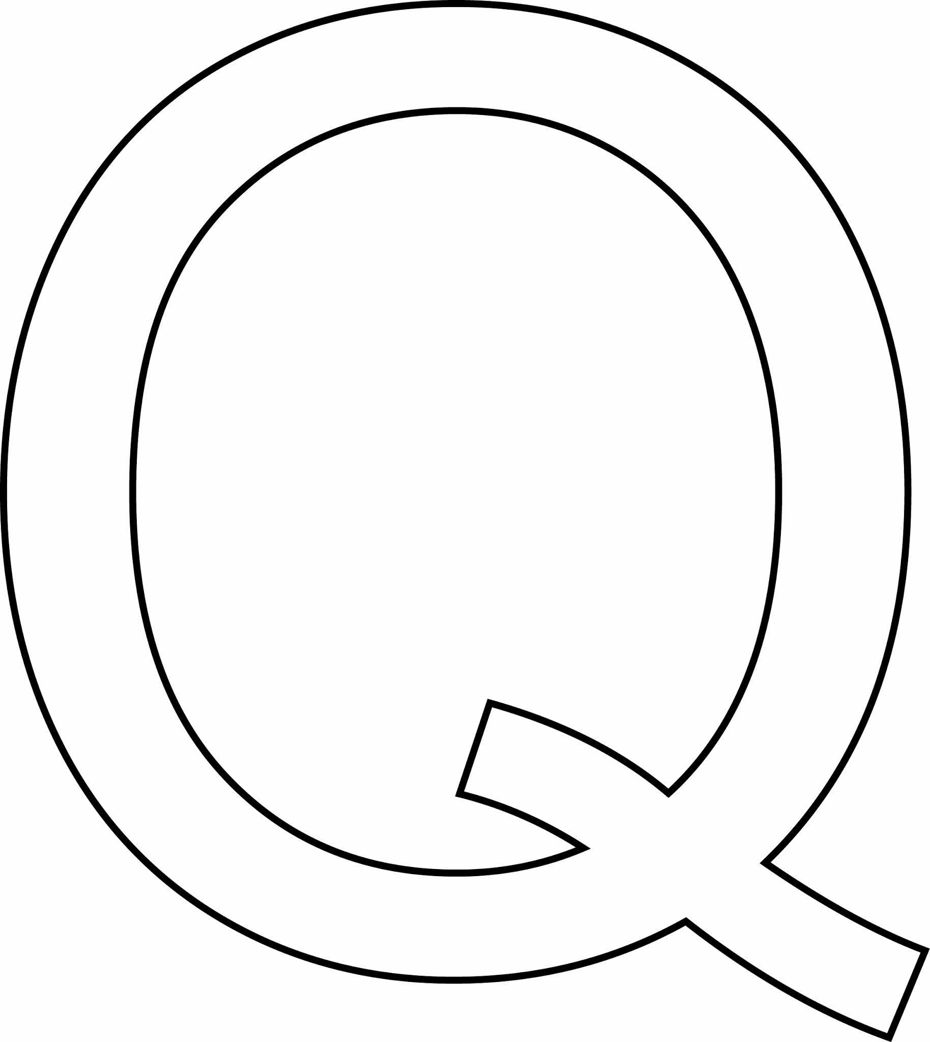 Letra Q - maiúscula para imprimir