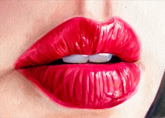 25+ Luscious Lips Paintings