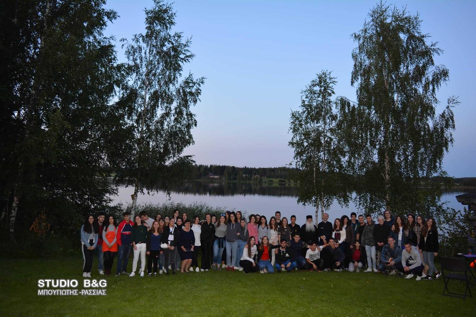 Ο Μητροπολίτης Αργολίδος κ. Νεκτάριος με φοιτητές και μαθητές στη Φινλανδία