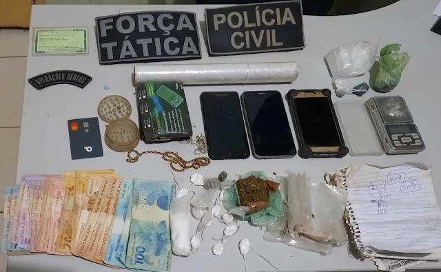 AÇÃO conjunta da Força Tática e PC culmina em prisão de traficantes em Valença do Piauí