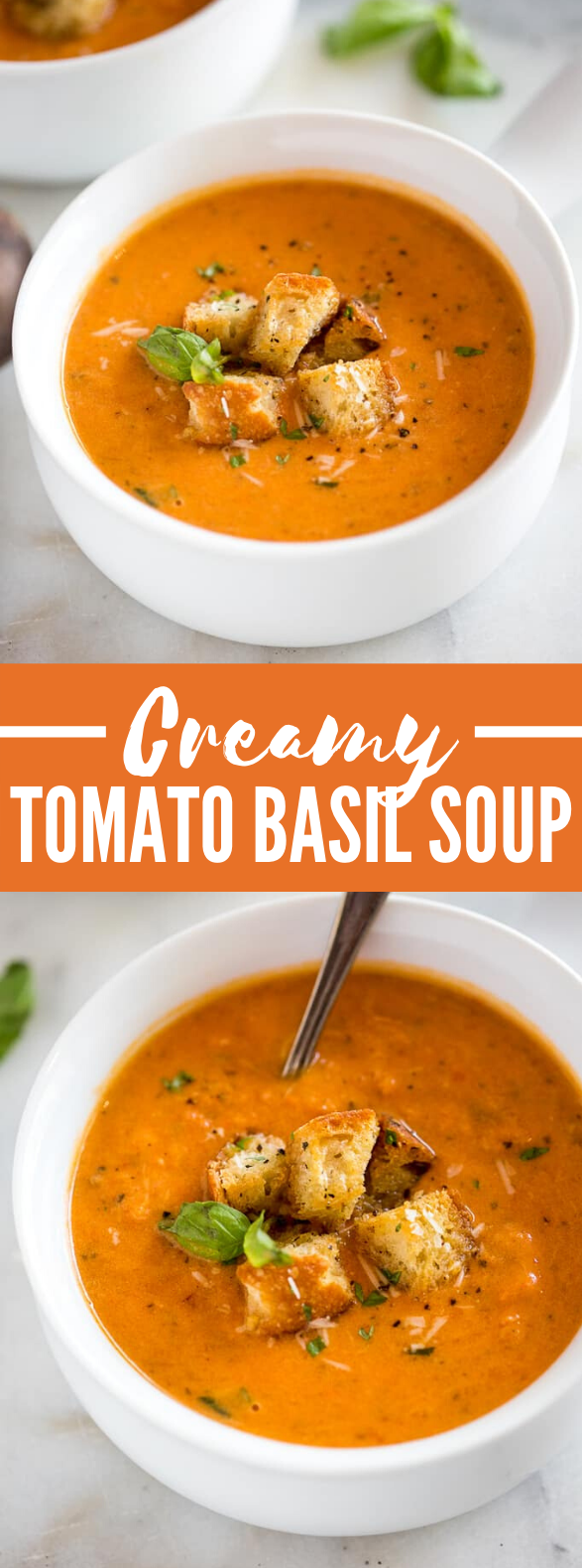 CREAMY TOMATO BASIL SOUP #appetizers #dinner