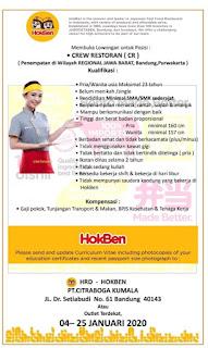 Lowongan kerja HokBen Bandung terbaru 2020