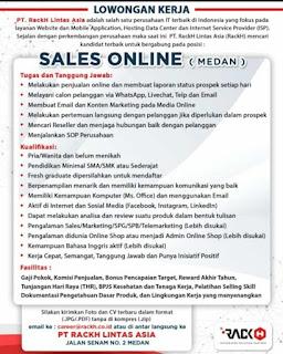 Sales Online di PT Rackh Lintas Asia