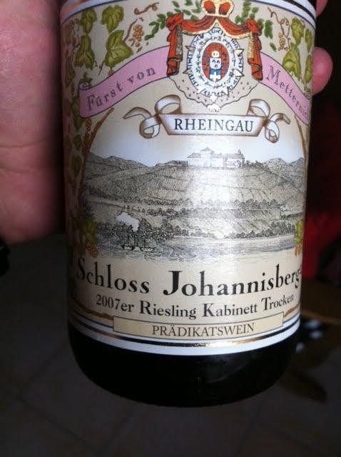 Fiori Bianchi Vino.Grappolo Rosso 2007er Riesling Kabnett Trocken Schloss Johannisberg