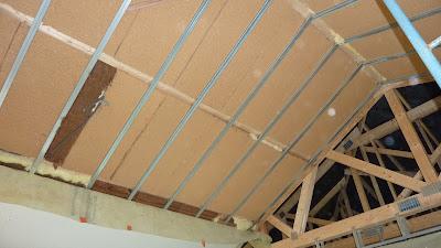 fllaac house isolation et pose du pare vapeur plafond. Black Bedroom Furniture Sets. Home Design Ideas