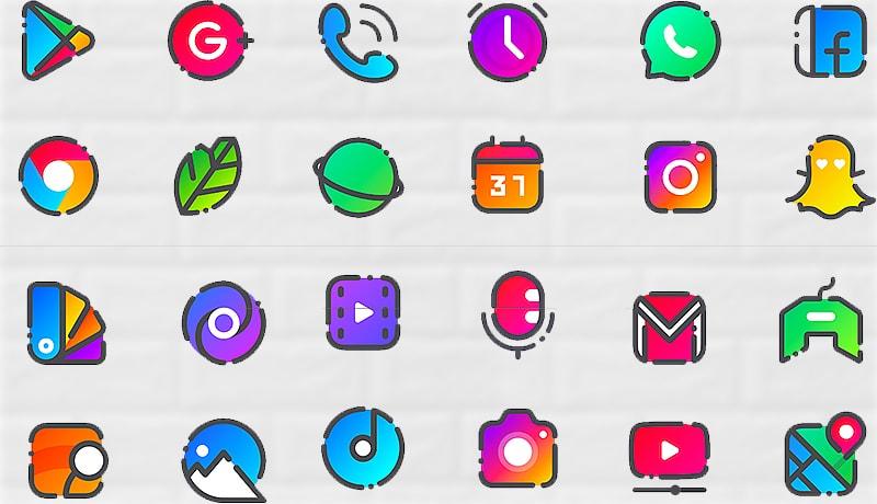 افضل تطبيق ايقون باك icone pack للاندرويد