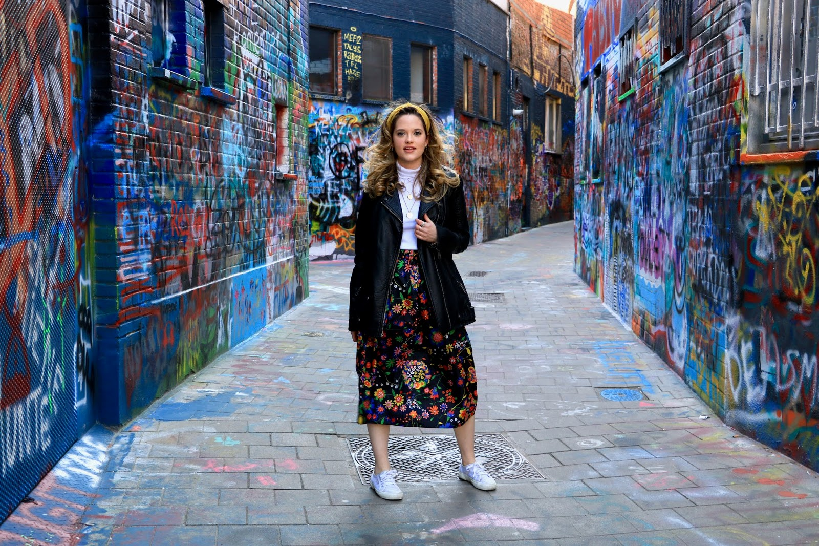 Fashion blogger Kathleen Harper's pics on Graffiti Street in Ghent, Belgium