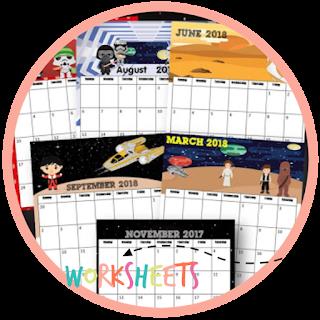 star wars printable calendar