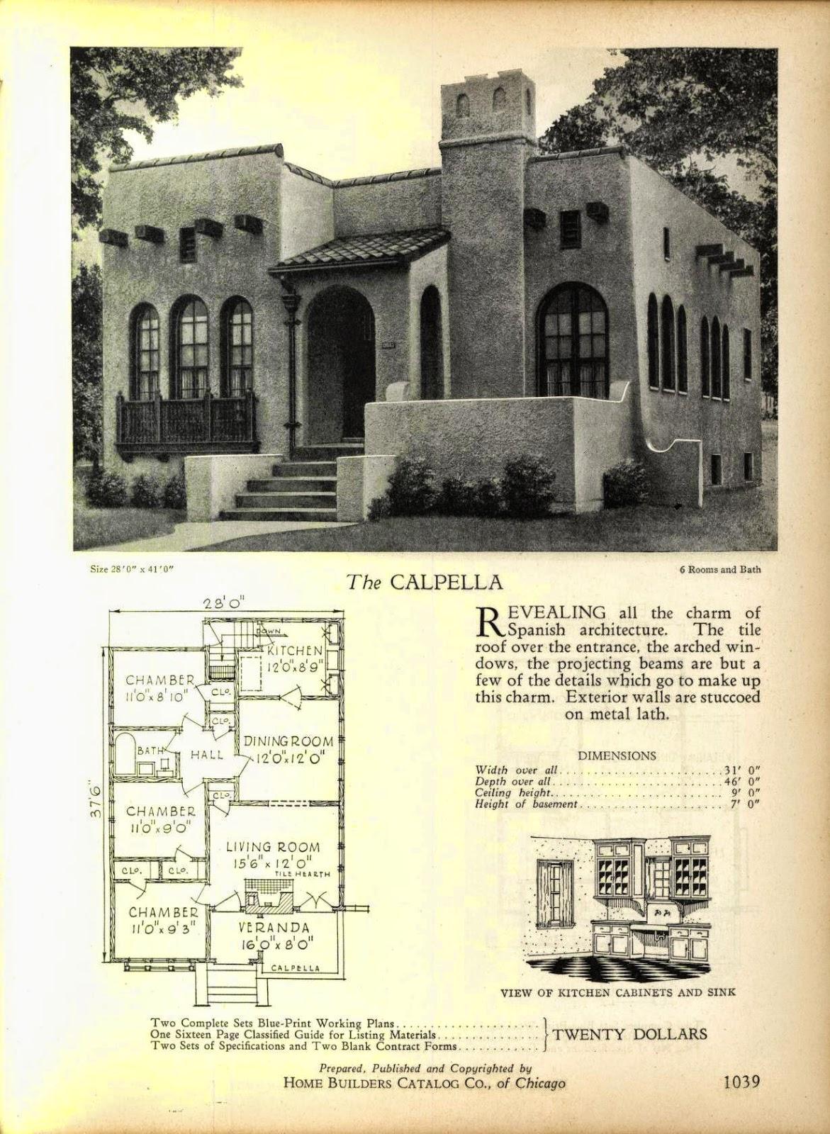 Vintage Spanish Style House Plans