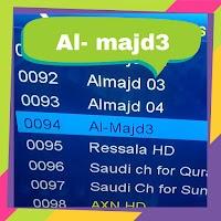Fréquence Al-majd3 sur Nilesat 201 @ 7° West  2020