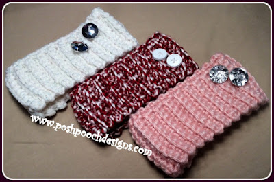 Chunky Button Ear Warmer by Sara @ Posh Pooch Designs