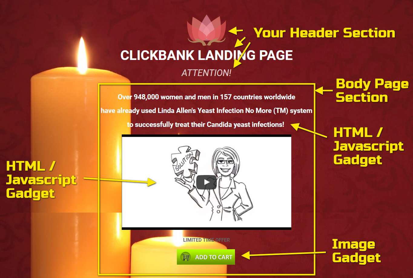 how to create clickbank landing page on blogger