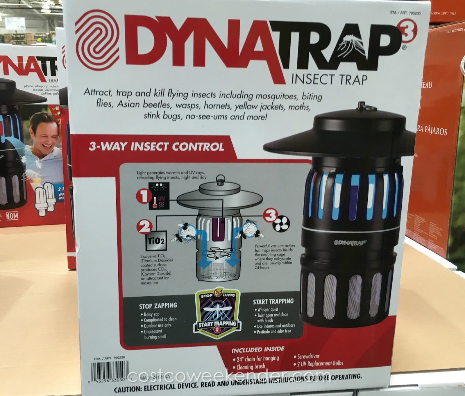 Costco 795230 - DynaTrap Insect Trap - great for when there are a lot of bugs and insects