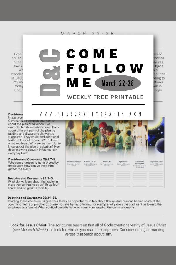Pinterest Pin - Come Follow Me - March 22-28- D&C 29