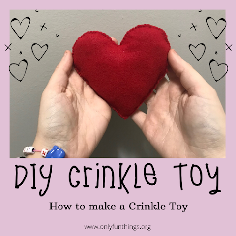 How to Make DIY Crinkle Plush Toy / DIY Stim Toy