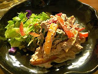 カラーピーマンとツナ缶サラダ