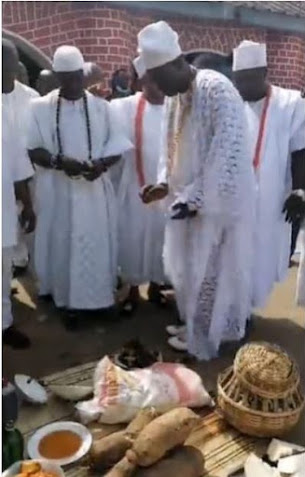 Moments From The Ooni Of Ife's Traditional Naming Ceremony Of His New Born Prince Adesoji Aderemi