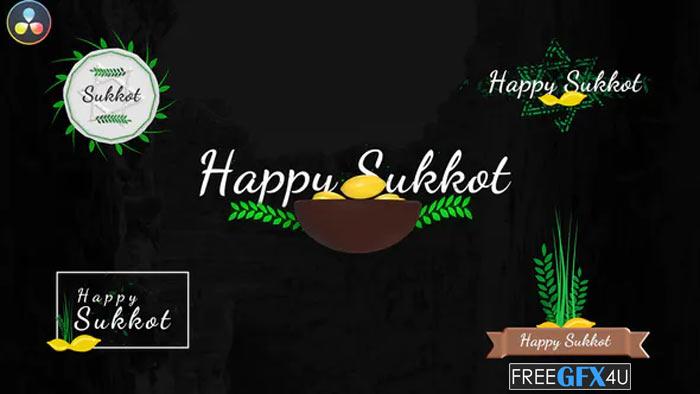Videohive - Sukkot Titles Jewish Holiday