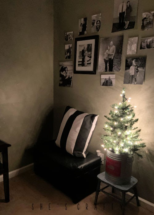 Cozy Christmas vignette in bedroom