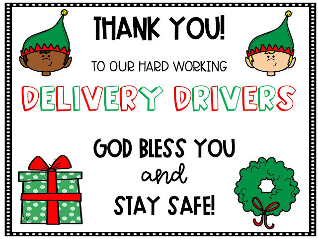 delivery driver thank you note