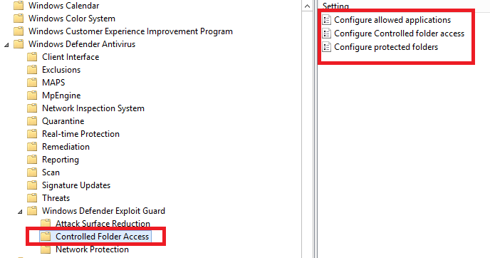 group policy defender exclusions