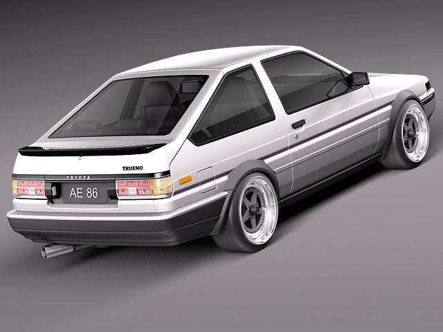 3dsMax高精度AE86汽车3D模型下載